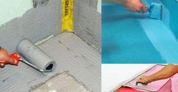 Гидроизоляция ванной комнаты – какими материалами и как выполняется?