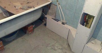 Установка ванны до и после укладки плитки – какой способ удобней?