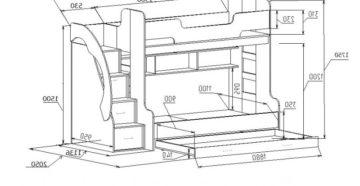 Двухъярусная кровать – руководство по изготовлению своими силами