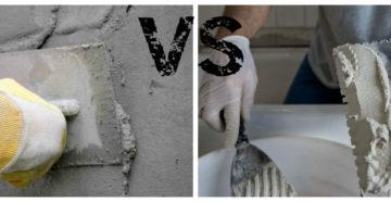 Цементная и гипсовая штукатурка – какую выбрать?