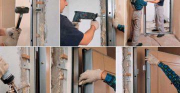 Установка металлических дверей – самостоятельный монтаж в домах и квартирах