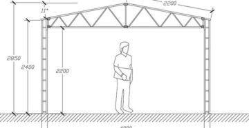 Как сделать железный гараж своими руками – чертежи и пошаговая инструкция