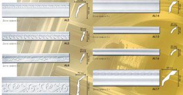 Виды, стоимость и размеры потолочных плинтусов