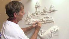 Картины из шпаклевки – создаем оригинальный рисунок