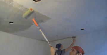 Покраска потолка из гипсокартона – чем и как покрасить поверхность своими руками