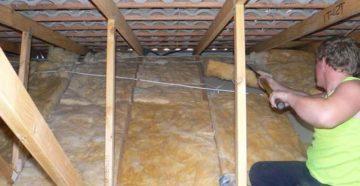 Утепление потолка минватой – комфортная температура в доме гарантирована!