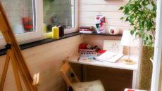 Как самостоятельно сделать рабочий кабинет на балконе