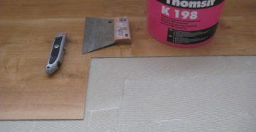 Выбор клея для ПВХ плитки и как правильно ее уложить