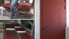Железная дверь в доме – как сделать надежную конструкцию своими руками