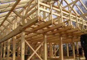 Деревянная каркасная конструкция